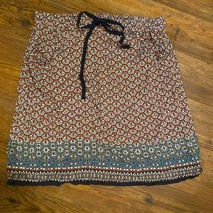 Max Studio mosaic print skirt with pockets